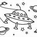 Dibujos de naves espaciales para colorear