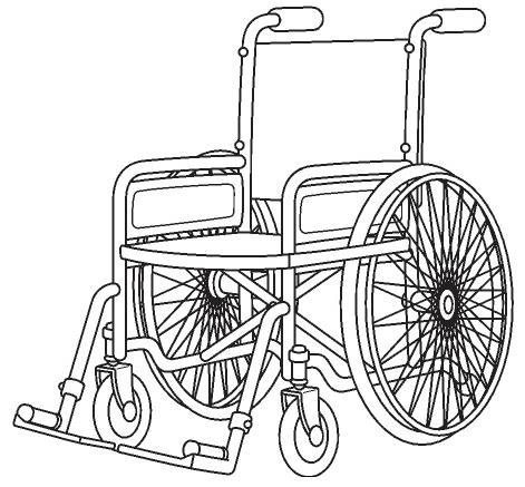 colorear silla de ruedas