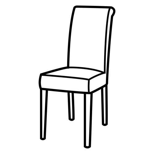 dibujo de silla para colorear
