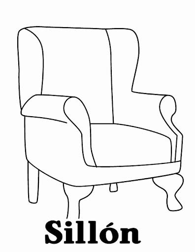 dibujo de sillon