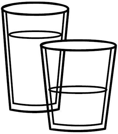 vasos para colorear