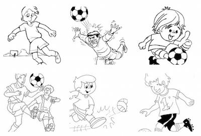 Dibujos De Futbol Para Colorear Dibujos Para Pintar De Futbol